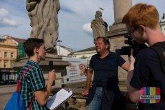 Petr Plachý s Ondrou Hruškou při rozhovoru [foto: Martin Košírer]