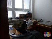 Práce ve studiu [foto: Petra Huková]