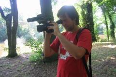 Vojta Ledvina s kamerou [foto: archiv TV Kolín]