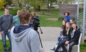 Návštěva studentů kvarty Gymnázia Kolín ve studiu